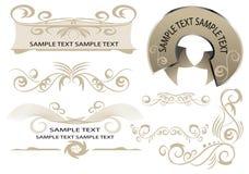 Elementos do projeto para o Web page Foto de Stock Royalty Free