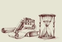 Elementos do projeto do vintage do diploma ou do certificado Imagem de Stock Royalty Free