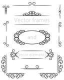 Elementos do quadro e da decoração do vetor Fotografia de Stock Royalty Free