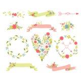 Elementos do ramalhete floral Imagem de Stock Royalty Free