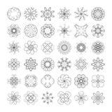 Elementos do redemoinho Imagens de Stock