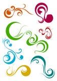 Elementos do redemoinho Imagem de Stock Royalty Free