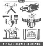 Elementos do reparo do vintage Imagem de Stock