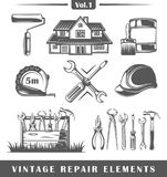 Elementos do reparo do vintage Fotografia de Stock
