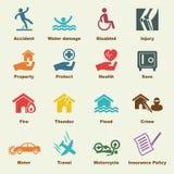 Elementos do seguro Foto de Stock