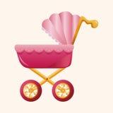 Elementos do tema dos transportes de bebê Imagem de Stock