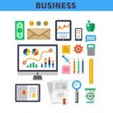 Elementos do trabalho do negócio Foto de Stock