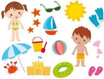 Elementos do verão Imagem de Stock