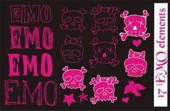 Elementos do vetor de EMO Imagem de Stock Royalty Free