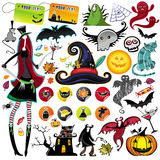 Elementos do vetor de Halloween Foto de Stock Royalty Free