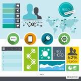 Elementos do vetor de Infographic Fotografia de Stock