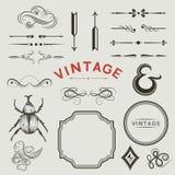Elementos do vetor do vintage Fotos de Stock