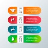 Elementos do vetor para infographic Fotografia de Stock