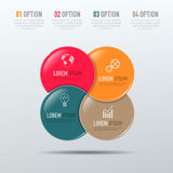 Elementos do vetor para infographic Foto de Stock Royalty Free