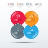 Elementos do vetor para infographic Imagem de Stock Royalty Free