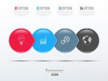 Elementos do vetor para infographic Imagem de Stock