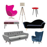 Elementos do vetor para o design de interiores Imagens de Stock Royalty Free