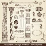 Elementos do vintage - antiguidade -   Fotos de Stock