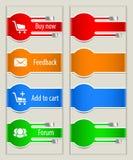 Elementos do Web Foto de Stock
