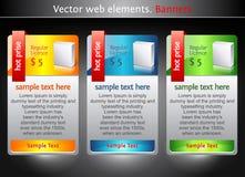 Elementos do Web. Bandeiras da venda Fotos de Stock Royalty Free