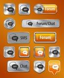 Elementos do Web do fórum/Chat/SMS Fotos de Stock Royalty Free