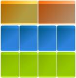 Elementos do Web para moldes Fotos de Stock