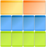 Elementos do Web para moldes Imagens de Stock