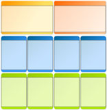 Elementos do Web para moldes Imagem de Stock Royalty Free