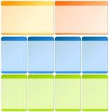 Elementos do Web para moldes Fotos de Stock Royalty Free