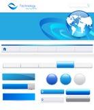 Elementos do Web site Foto de Stock Royalty Free