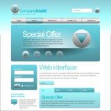 Elementos do Web UI Imagem de Stock