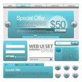 Elementos do Web UI Imagens de Stock Royalty Free