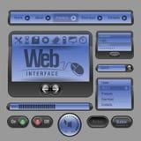 Elementos do Web UI Foto de Stock