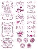 Elementos dos del diseño del amor Foto de archivo