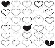 Elementos dos fundos do Valentim Fotos de Stock Royalty Free