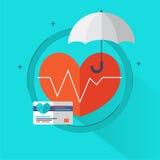 """Elementos dos gráficos da informação cuidados médicos do †do conceito do seguro de saúde dos """"em ícones lisos do estilo tais co ilustração stock"""