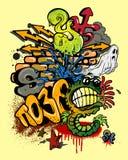 Elementos dos grafittis Foto de Stock