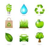 Elementos e ícones do projeto de Eco Fotografia de Stock Royalty Free