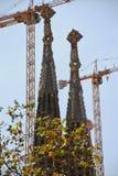 Elementos e detalhes Sagrada Familia em Barcelona Fotos de Stock Royalty Free