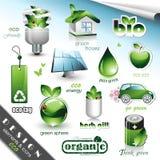 Elementos e iconos del diseño de Eco Imagen de archivo libre de regalías