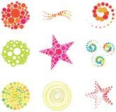 Elementos e insignias del diseño del vector Imagen de archivo