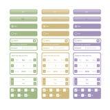 Elementos e teclas do Web Imagens de Stock Royalty Free