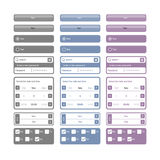 Elementos e teclas do Web Fotos de Stock