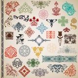 Elementos e testes padrões decorativos no vetor Fotografia de Stock Royalty Free