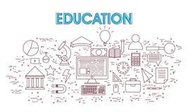 Elementos educacionais de Infographic Foto de Stock Royalty Free