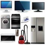 Elementos electrónicos de hogar Fotografía de archivo libre de regalías