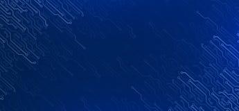 Elementos eletrônicos na obscuridade - fundo azul Imagem de Stock