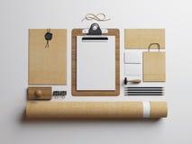 Elementos en blanco en el fondo blanco Fotos de archivo libres de regalías