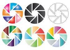 Elementos en color ilustración del vector