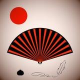 Elementos en el estilo japonés Fotos de archivo